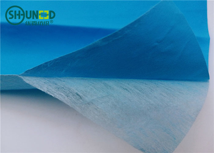 Chemical Bond Non Woven Fabric Roll With Pet Film Laminating For Disposable Medical Bed Sheets